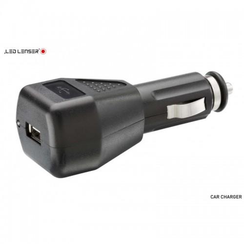 Cargador USB para coche para Linternas y Frontales LEDLENSER Linternas y Frontales Led Profesionales