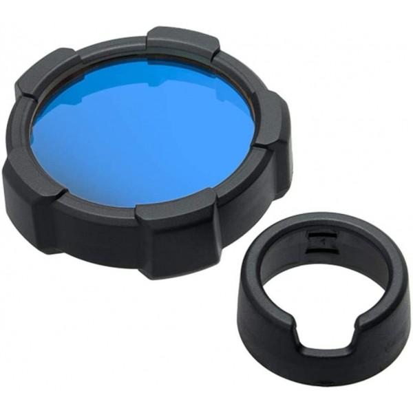 Filtro de color Azul + protector LEDLENSER Linternas y Frontales Led Profesionales