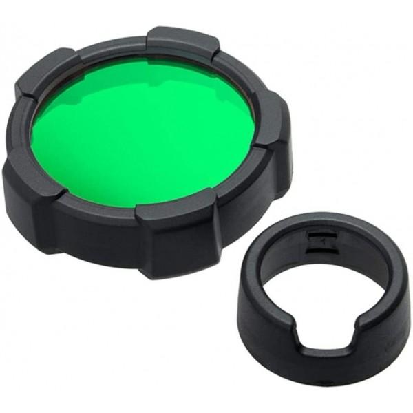 Filtro de color Verde + protector LEDLENSER Linternas y Frontales Led Profesionales