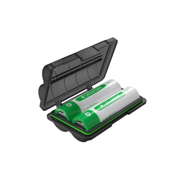 Caja con dos baterías 2 x 18650 3400 mAh LEDLENSER Linternas y Frontales Led Profesionales