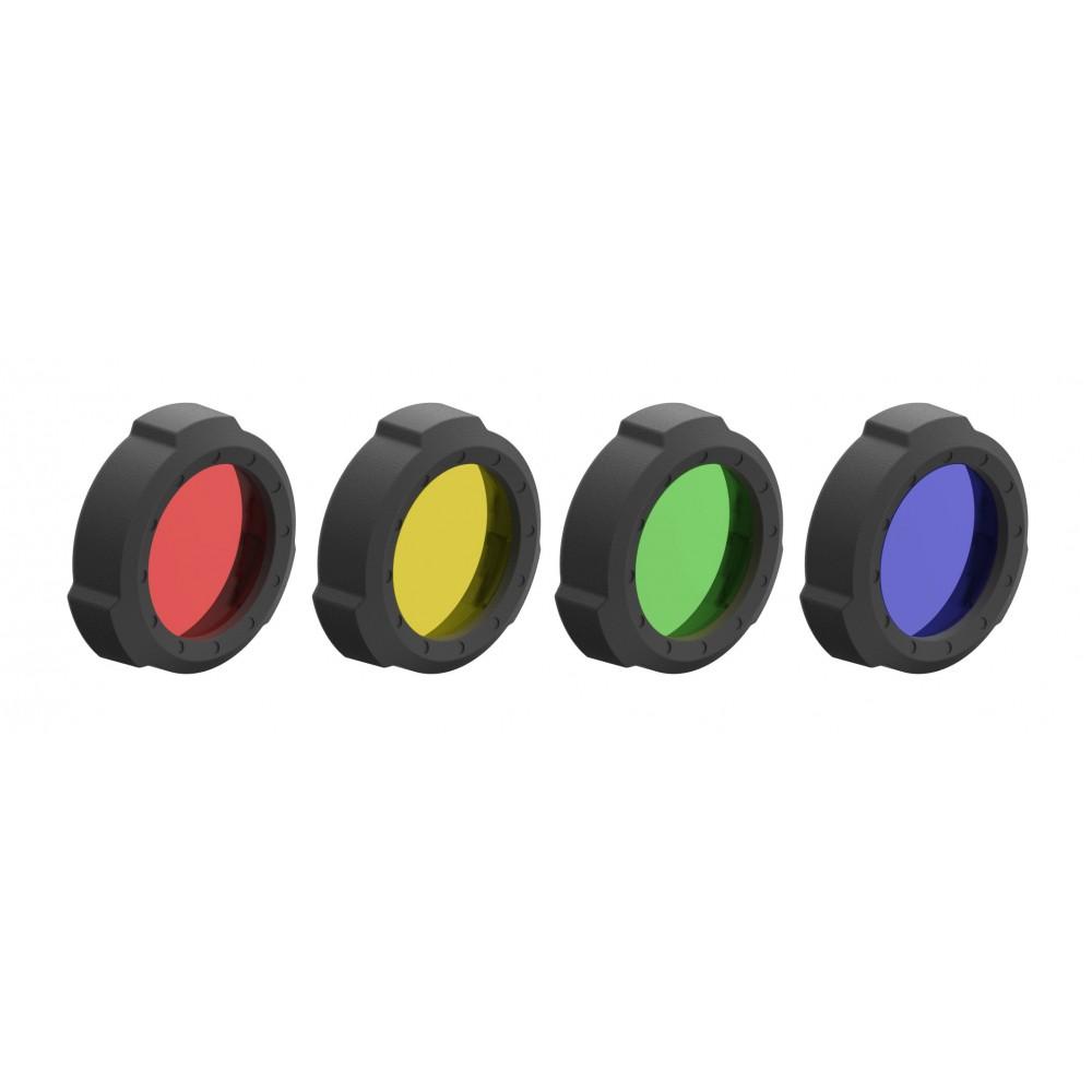 Set de 4 Filtros de colores LEDLENSER Linternas y Frontales Led Profesionales
