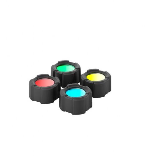 MT10 Filtros de quatro cores + protetor para lanterna