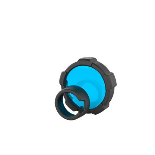 MT18 Filtro de cor Azul + protetor para lanterna